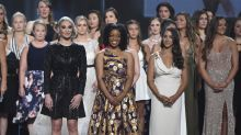 Sex abuse victims join hands, accept courage award at ESPYs