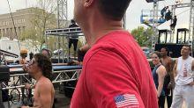 Oklahoma governor tries 'American Ninja Warrior' course