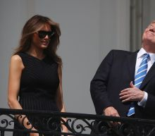 Trump looks at sun during eclipse — with and without protective glasses