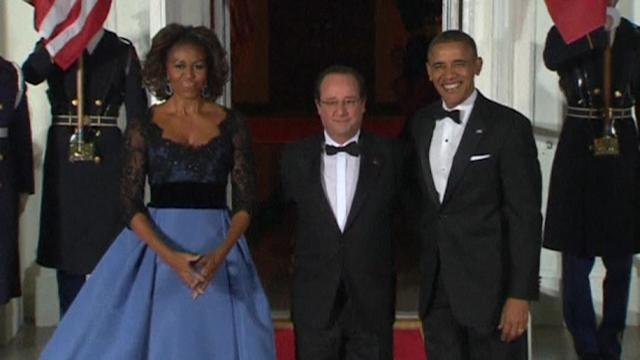 French President honoured at US State dinner