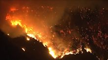 Dramatic aerial footage shows raging fires in L.A. County