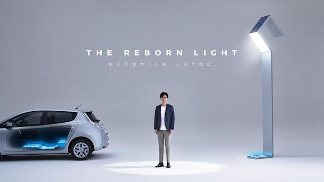 Nissan is using recycled Leaf batteries to power street lights