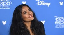 Salma Hayek dances in bikini top in throwback from movie