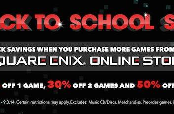 Square Enix back to school sale is counterproductive to studying