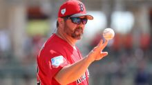 Jason Varitek's strikeout call as umpire in Red Sox scrimmage is fantastic