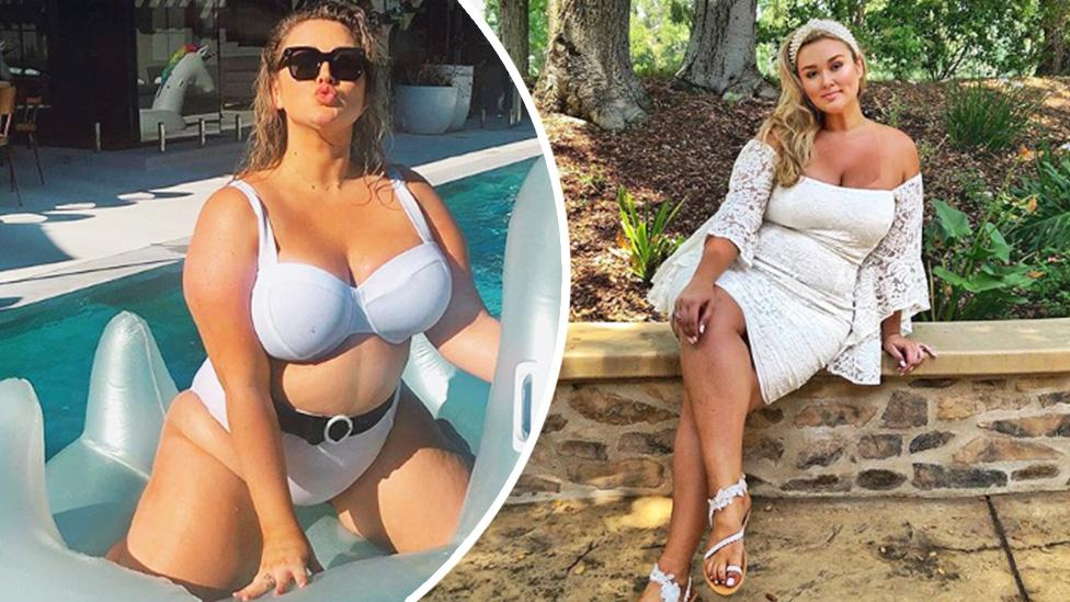 'Tight and sexy': 'Curviest model ever' Hunter McGrady refuses to cover up on wedding day