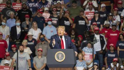 Okla. reports record virus increase after Trump rally