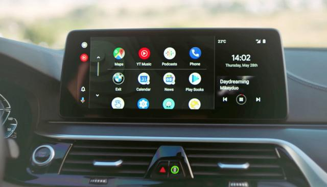Wireless Android Auto in a BMW car