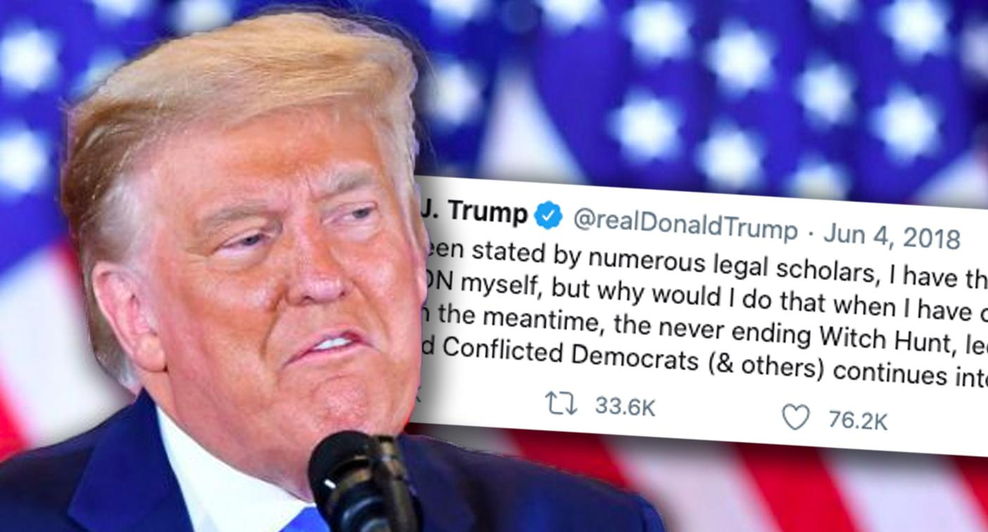 Old Trump tweet hints at shocking step before leaving White House
