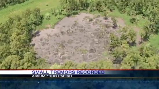 Small tremors recorded in sinkhole area