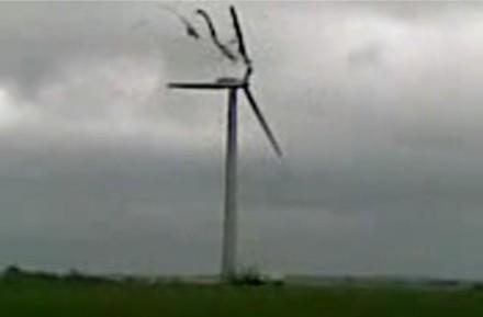 Danish wind turbine eats itself