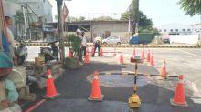 南區國民路巷口路面下陷 南市水利局督促改善完成