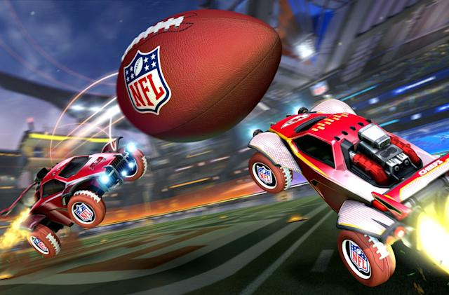 Super Bowl LV comes to 'Rocket League' with gridiron mode