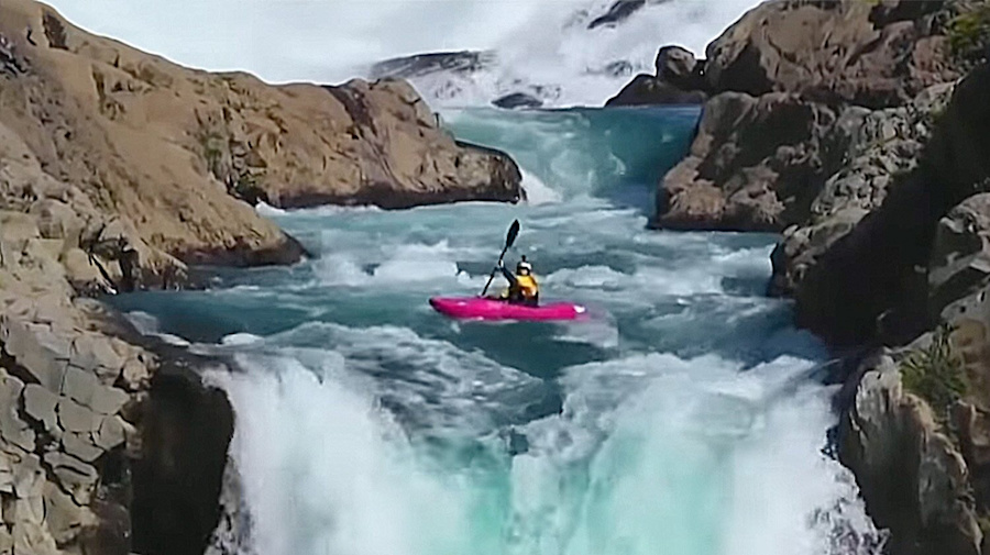 Kayaking Champion Dane Jackson, Who Is 70 Percent Deaf, Survives 134-Foot Waterfall