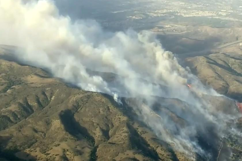 2 firefighters critically injured fighting Calif. blaze