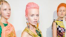 Hot Pink Hair! Printed Buzz Cuts! Punk is the New Pretty at London Fashion Week
