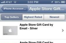 Passbook-enabled gift cards now available via Apple Store app