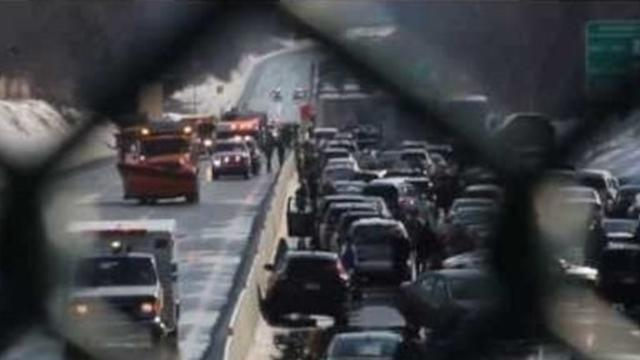 Icy Conditions Trigger Pile-Up