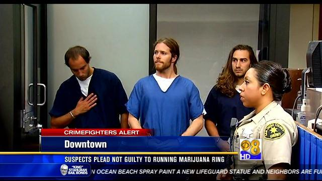 Suspects plead not guilty to running marijuana ring