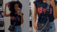 Brunna Gonçalves veste look de R$ 15 mil para ir à igreja