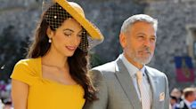 Crowds cheer as George and Amal Clooney arrive looking fairytale perfect