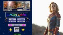 La web de Capitana Marvel es salida de los 90