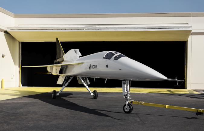 Boom Supersonic XB-1 supersonic demonstrator plane.