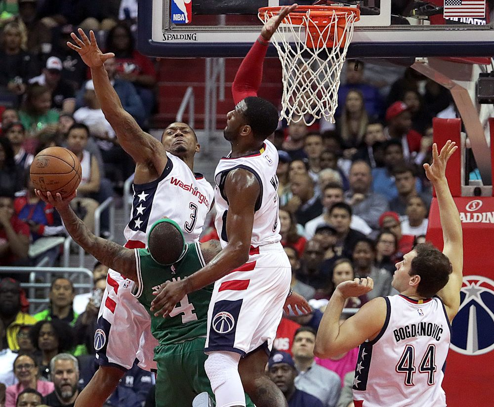Bradley Beal, John Wall and the Wizards totally snuffed out Isaiah Thomas and the Celtics' offense in Game 3. (Barry Chin/The Boston Globe/Getty Images)