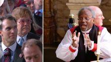 Sir Elton John's reaction to Pastor Michael Curry's Royal Wedding sermon is priceless