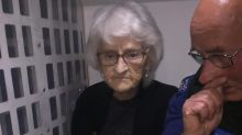 Police 'arrest' grandmother, 93, and her family is over the moon
