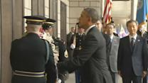U.S. President Obama pays tribute to Korean War dead