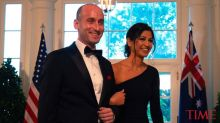 President Trump Attends Trump Hotel Wedding of White House Aides Stephen Miller and Katie Waldman