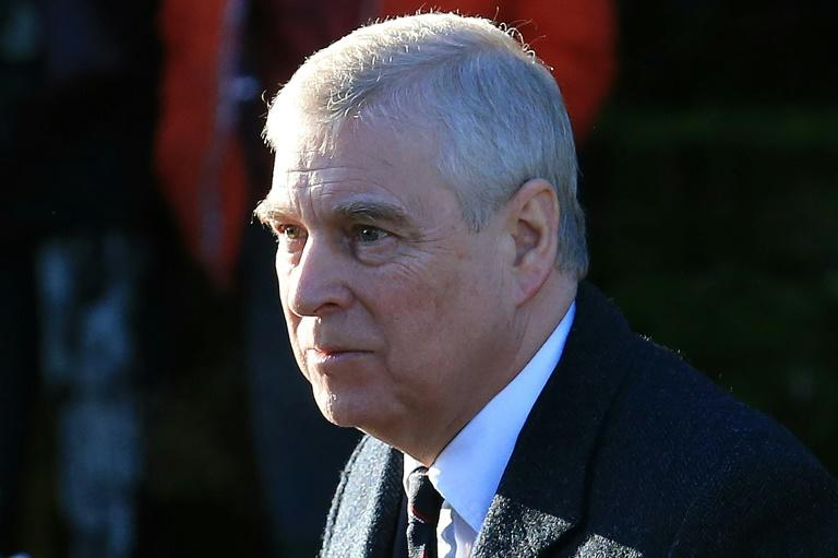Britain's Prince Andrew, pictured here in January 2020, denies he claims he had sex with a 17-year-old girl procured by Jeffrey Epstein (AFP Photo/Lindsey Parnaby)