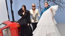Yolanda Hadid joined Gigi and Bella on the catwalk last night