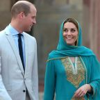 Clear skies after mid-air storm drama as Kate and William leave Pakistan