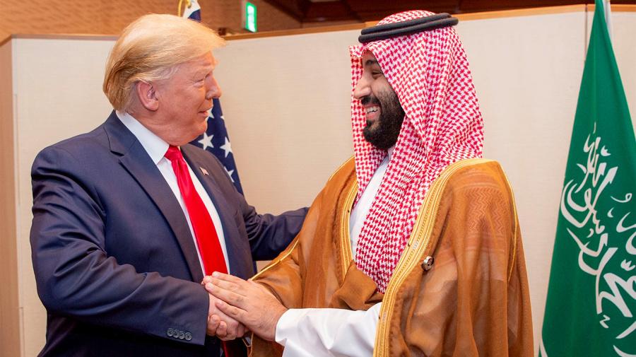 Trump touts oil prices, credits 'friend' Saudi prince