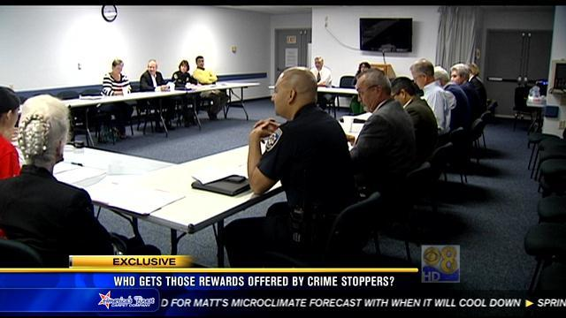 Who gets the rewards offered by San Diego Crime Stoppers