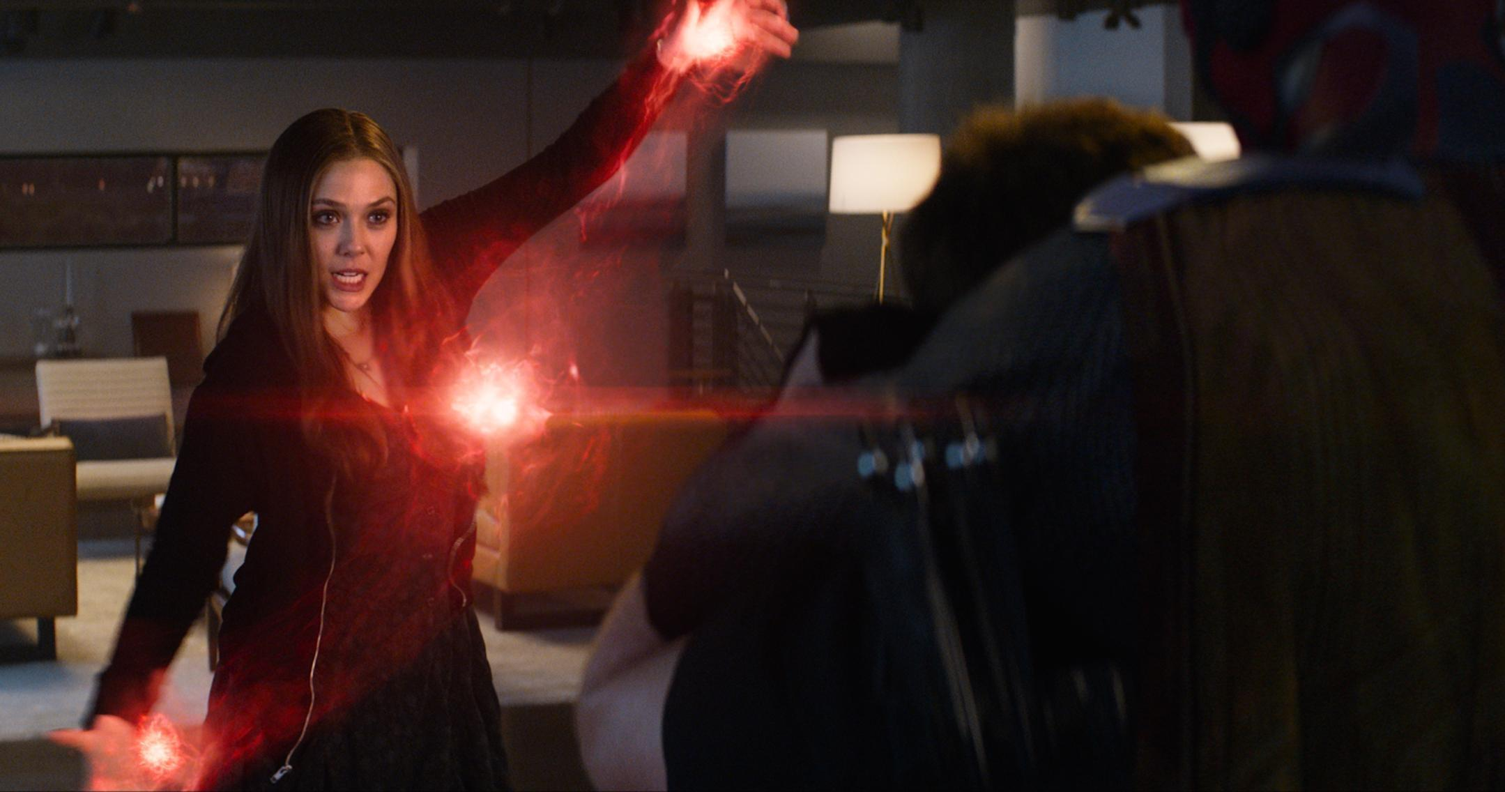 Avengers' Star Elizabeth Olsen on the Sexy Scarlet Witch Costume ...