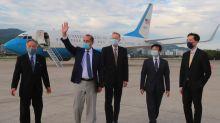 US cabinet member meets Taiwan's leader