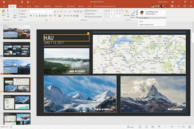 PowerPoint brings real-time collaboration to your slides