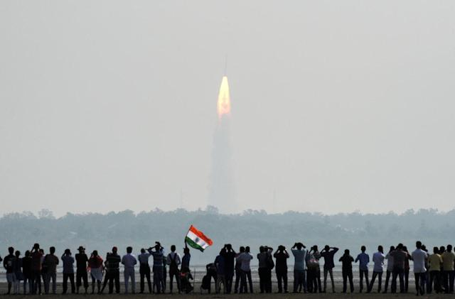 India sets record launching 104 satellites aboard a single rocket