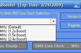 GMABooster gives your netbook's integrated graphics a nudge