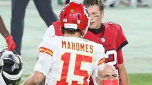 Tom Brady and Patrick Mahomes troll each other after MLB player pays off Super Bowl bet