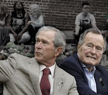 After Charlottesville, both Bush presidents denounce 'hatred in all forms'