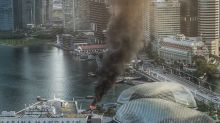 Marina Bay fire: Open verdict recorded for bumboat pilot's death