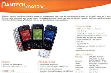 AT&T's C740 Matrix from Pantech gets pictured