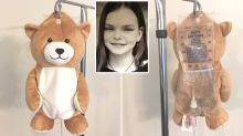 Girl with rare disease invents teddy bear covers for IV bags