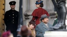 Emily Blunt snapped filming Mary Poppins Returns as London goes back in time