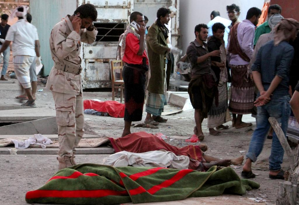 A suicide bomber killed at least 30 Yemeni soldiers in Aden, eight days after a similar bombing in Aden claimed by the Islamic State group killed 48 soldiers (pictured) (AFP Photo/SALEH AL-OBEIDI)
