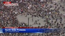 Chicago North Side protest: Large peaceful protest moving through Lakeview, Uptown